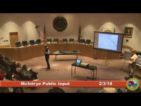 02.03.2018 McIntrye Public Comment