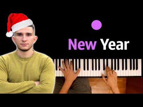 Timurlan - New Year (Мандарины, ёлка, блестки) ● караоке | PIANO_KARAOKE ● ᴴᴰ + НОТЫ & MIDI