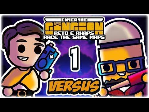 Seeded Gungeon Races | Part 1 | Enter the Gungeon vs. Rhapsody | Reto & Rhaps Race the Same Maps
