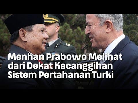 Menhan Prabowo Melihat dari Dekat Kecanggihan Sistem Pertahanan Turki