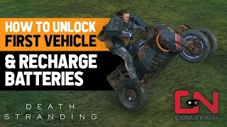 Death Stranding Bike - How to Unlock First Vehicle, Power the Bike & Recharge Batteries