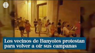 Los vecinos de Banyoles protestan para volver a oír sus campanas