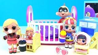Куклы Лол Мультик! Барби и Джек - Джек помогают встретить младших сестренок! Lol Surprise Baby Dolls