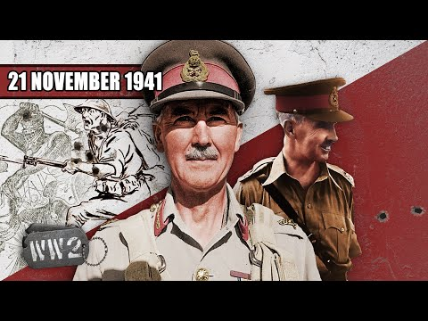Operace Crusader začíná - Druhá světová válka