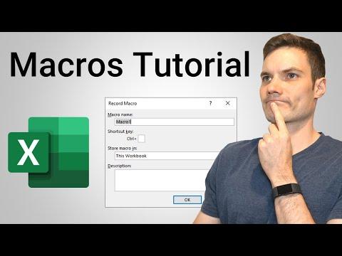 How to Create Macros in Excel Tutorial - YouTube