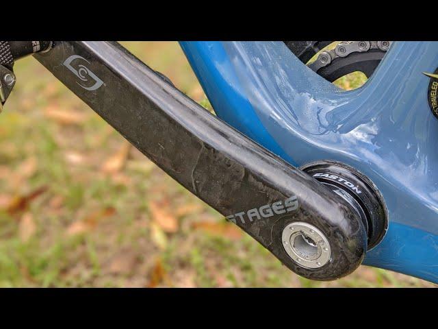 Видео Шатун с паверметром Stages Power Meter L Shimano XTR M9100 Trail черный