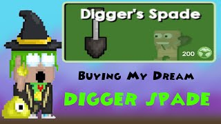 Growtopia - Getting my dream 'Digger Spade'