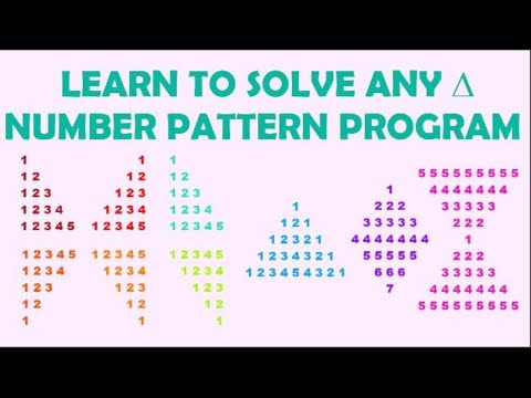 How to solve any number pattern program in Java
