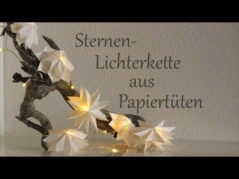 DIY | Sternen-Lichterkette aus Mini-Papiertüten | Advents- und Weihnachtsdeko | Just Deko