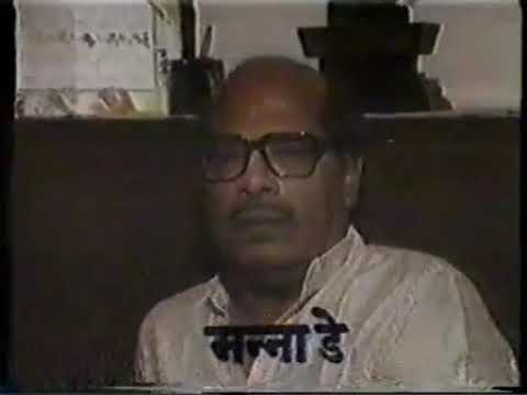 Mannadey paying tribute to Music Composer Shankar Jaikishan's Shankar after his death in 1987