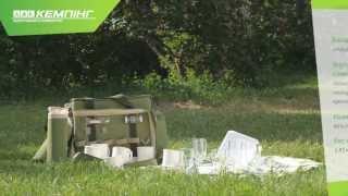 Набор посуды для пикника на 6 персон HB6-520, изотермический отдел от компании Большая ярмарка - видео