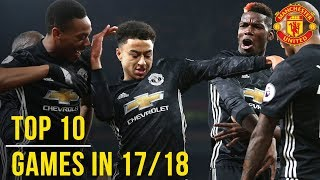 Video Manchester United Season Review: Top 10 Games! | Season 2017/18 MP3, 3GP, MP4, WEBM, AVI, FLV Agustus 2019
