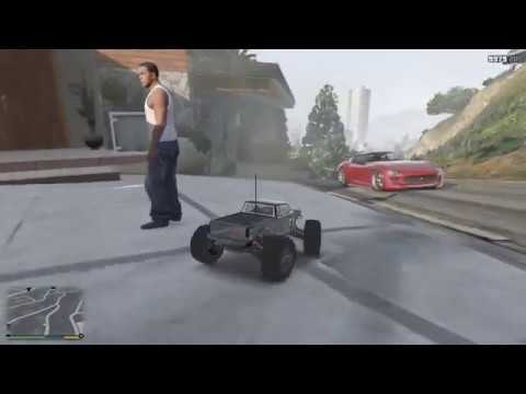 GTA V - Trying To Pick Up Franklin And Trevor In RC Car