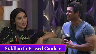 "Bigg Boss 14 : Cute Moment | Siddharth Shukla ""Kissed"" Gauhar Khan"