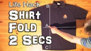 Vignette de Comment plier un tee shirt en moins de 2 secondes ?