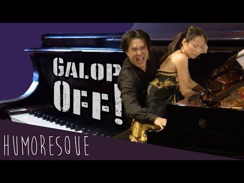 מופע פסנתר זוגי מצחיק עם השותף הגרוע בעולם