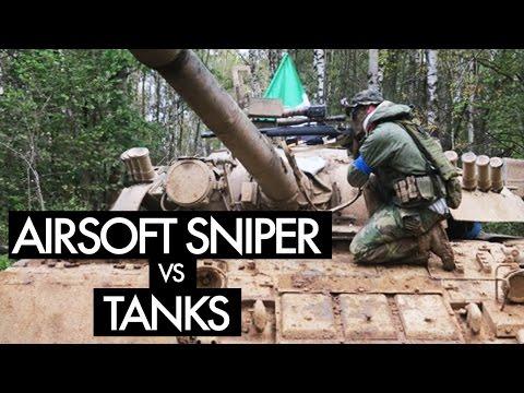 Airsoft sniper x airsoft tank?