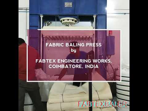 Hydraulic Cloth Baling Machine