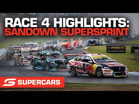 SUPERCARS 2021 Sandown スーパースプリント レース4ハイライト動画