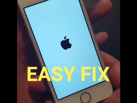 "Video IPHONE 3, 4, 5, 6, 6 , 6s, PLUS: SOLUTION TO FIX ""APPLE LOGO STUCK"" ON SCREEN"