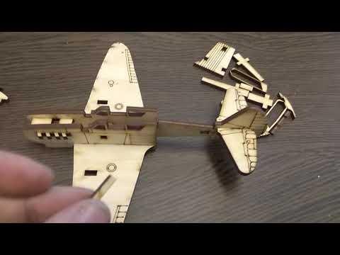 Инструкция по сборке самолета ЯК из дерева