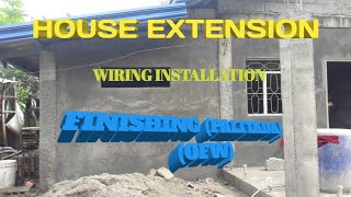 HOUSE EXTENSION, WIRING AND FINISHING..