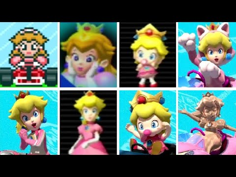 Evolution of Peach Characters in Mario Kart Games (1992-2017)