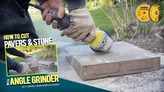 How to Cut Pavers and Bricks With Portable Angle Grinder. DIY Paver Walkway Transformation