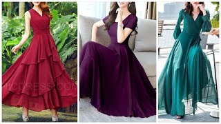 New Gowns Styles -Top 40 X-Line Chiffon Gown Maxi Dresses 👗