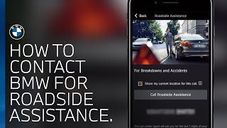 How to contact BMW for Roadside assistance.