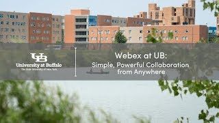 Video providing users with an introduction to Webex at UB.