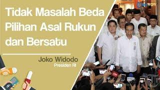 Presiden Jokowi Kembali Ingatkan Masyarakat Indonesia Tetap Rukun dan Bersatu selama Pemilu 2019
