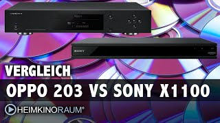 Vergleich 4K UltraHD Blu-Ray Player: Oppo UDP-203 gegen Sony UBP-X1100ES
