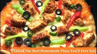 Pizza Without Oven on Pan | The Best Homemade Pizza You'll Ever Eat