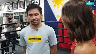 Manny Pacquiao talks about sparring and overall preparation for his fight with Keith Thurman