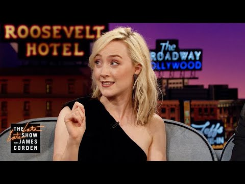 Saoirse Ronan Misspelled Ed Sheeran's Tattoo On Purpose (видео)