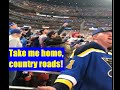 """Hockey Fans, """"Country Roads, Take Me Home"""""""