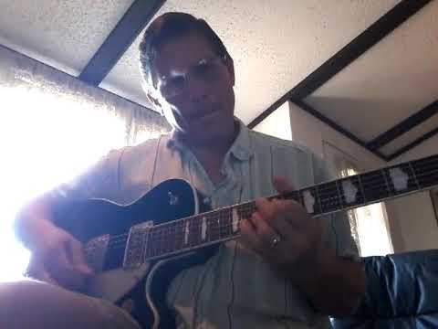 Jazz guitar solo over C major jazz progression.