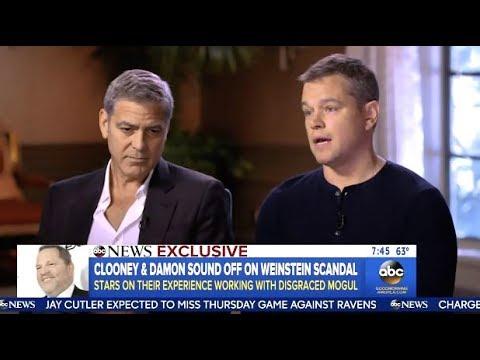 Matt Damon & George Clooney Talk Weinstein Scandal (GMA)