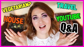 Quitting Vegetarian, Travel Plans, Youtube Challenges | Q&A #AskJulia