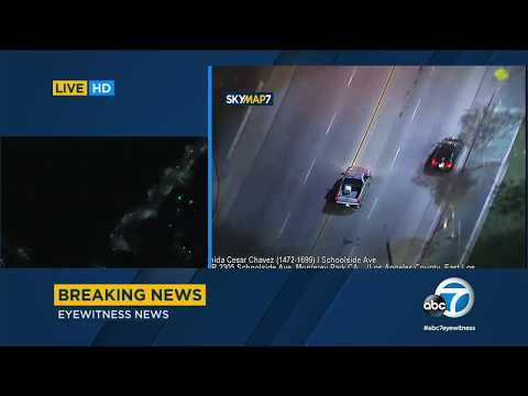 Stolen-vehicle suspect leads police on chase through East LA | ABC7