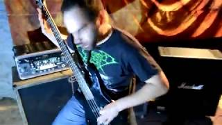 CUTTERRED FLESH - Sandy goes hardcore - bass playthrough - no vo