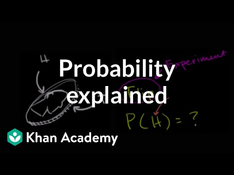 Theoretical probability Statistics and Probability (video) Khan