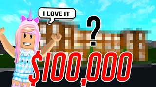 Giving Away $100,000 On Roblox Bloxburg