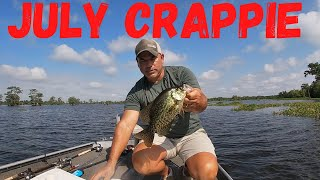 July Crappie Fishing In Louisiana(Using One Of My Top Catching Homemade Hair Jigs)