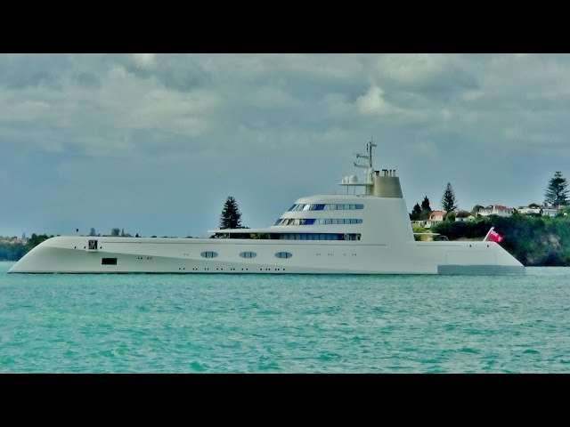 "Expensive stuff (three hundred and fifty million dollar super yacht ""A"")"