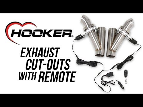 Hooker Exhaust Cut-Out Kits With Remote