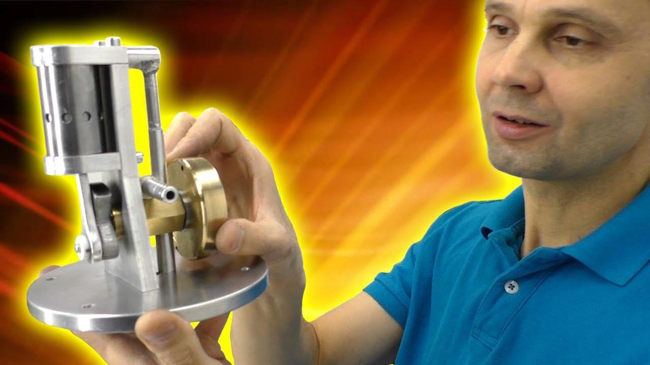 ДВИГАТЕЛЬ НА ВОЗДУХЕ МОЯ НОВАЯ ИГРУШКА Пневмодвигатель Compressed Air Engine Игорь Белецкий