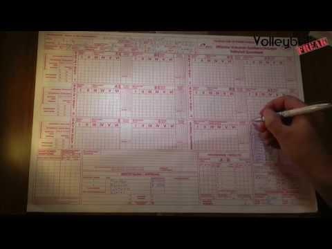 Volleyball Spielberichtsbogen ausfüllen - vor dem Spiel und nach der Auslosung