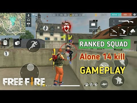 RANKED SQUAD ALONE 14 KILL GAMEPLAY / PLAYING WITH SUB